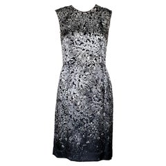 LANVIN BLACK and WHITE DIAMOND PRINT DRESS 38 - 6