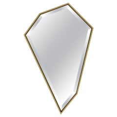 """New Large, Angled Wall Mirror """"Foster"""" in Gold Leaf"""