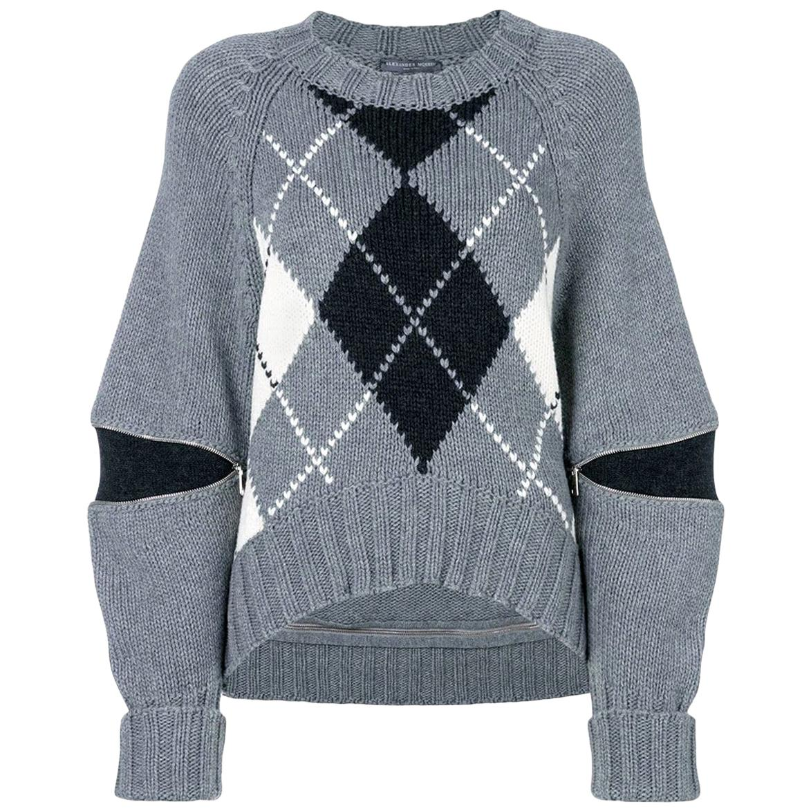New Laura Dern Big Little Lies Alexander McQueen Argyle Sweater  $1295
