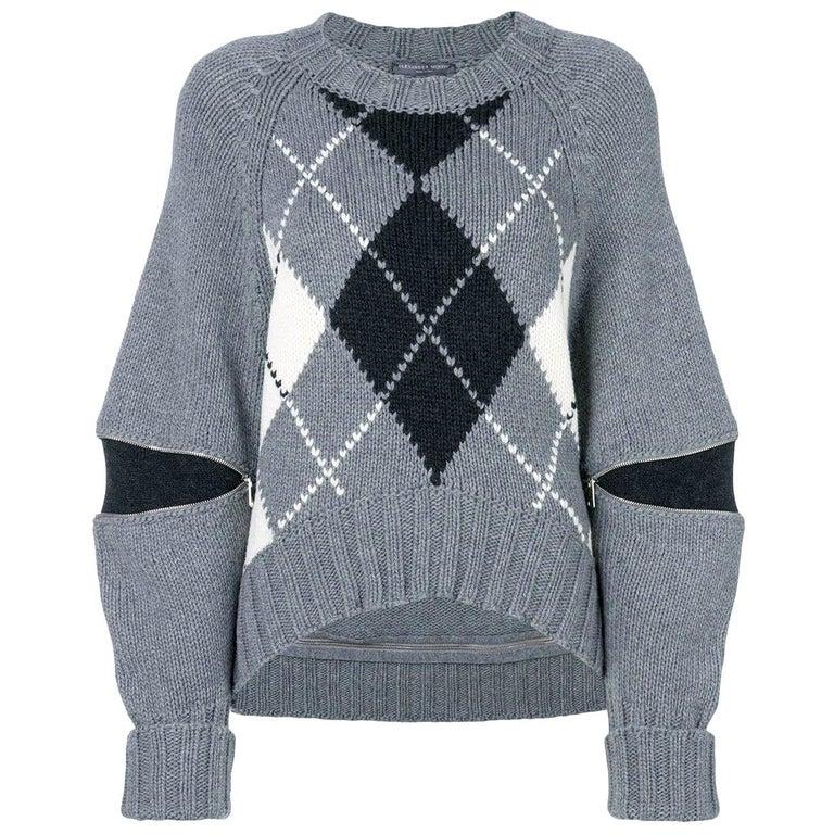New Laura Dern Big Little Lies Alexander McQueen Argyle Sweater Sz L $1295