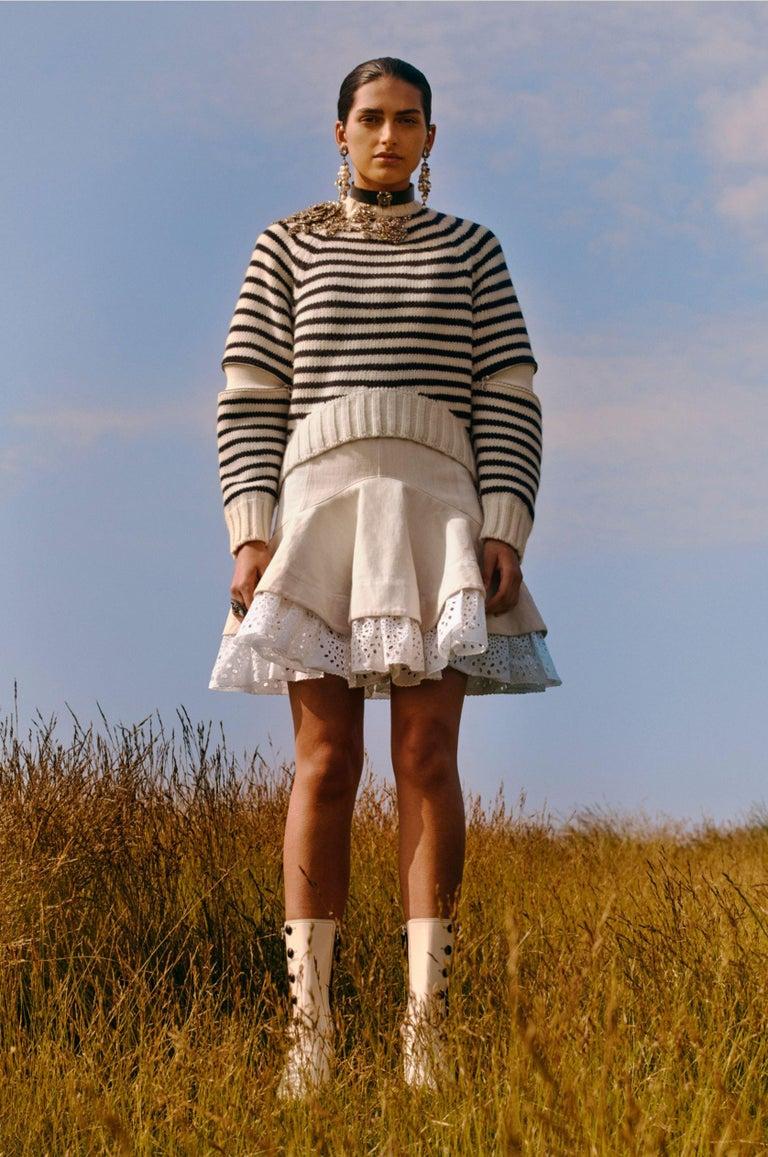 Gray New Laura Dern Big Little Lies Alexander McQueen Argyle Sweater  $1295 For Sale