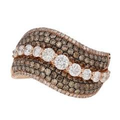 Le Vian Diamond Ring, 14 Karat Rose Gold Women's Designer 2.54 Carat