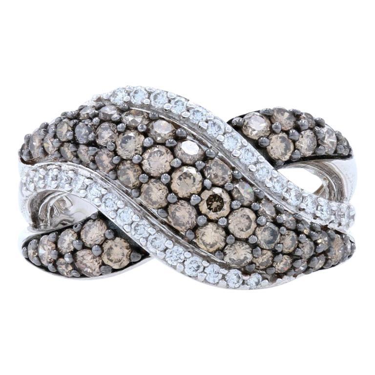 New Le Vian Diamond Ring, 14k White Gold Crossover 1.34ctw