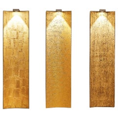 """New Lighting Panels finished in Gold Leaf on """"Stripes"""", """"Circles"""" and """"Spatula"""""""