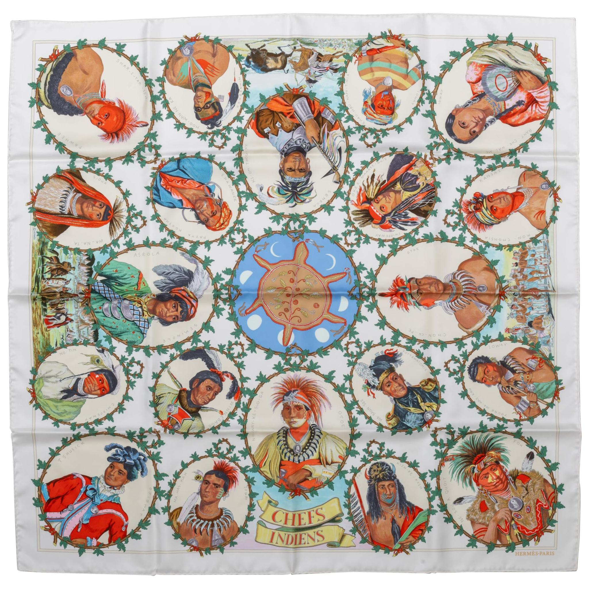 New Limited Edition Hermès Chefs Indiens Scarf by Oliver