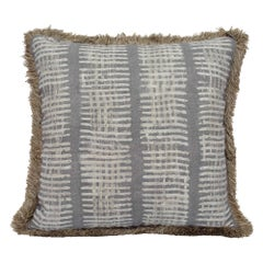 New Lines Accent Pillow with Fringe