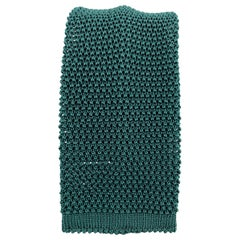 NEW & LINGWOOD Bold Forest Green Silk Textured Knit Tie