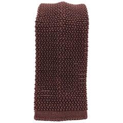NEW & LINGWOOD Deep Burgundy Silk Textured Knit Tie