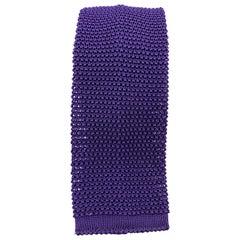 NEW & LINGWOOD Purple Textured Silk Knit Tie