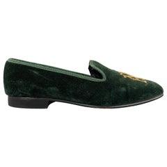NEW & LINGWOOD Size 8 Green Velvet Slippers Loafers
