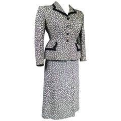 New Look Bar Skirt Suit Circa 1945/1950
