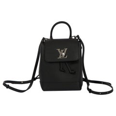 NEW Louis Vuitton Black Lockme Backpack with Box