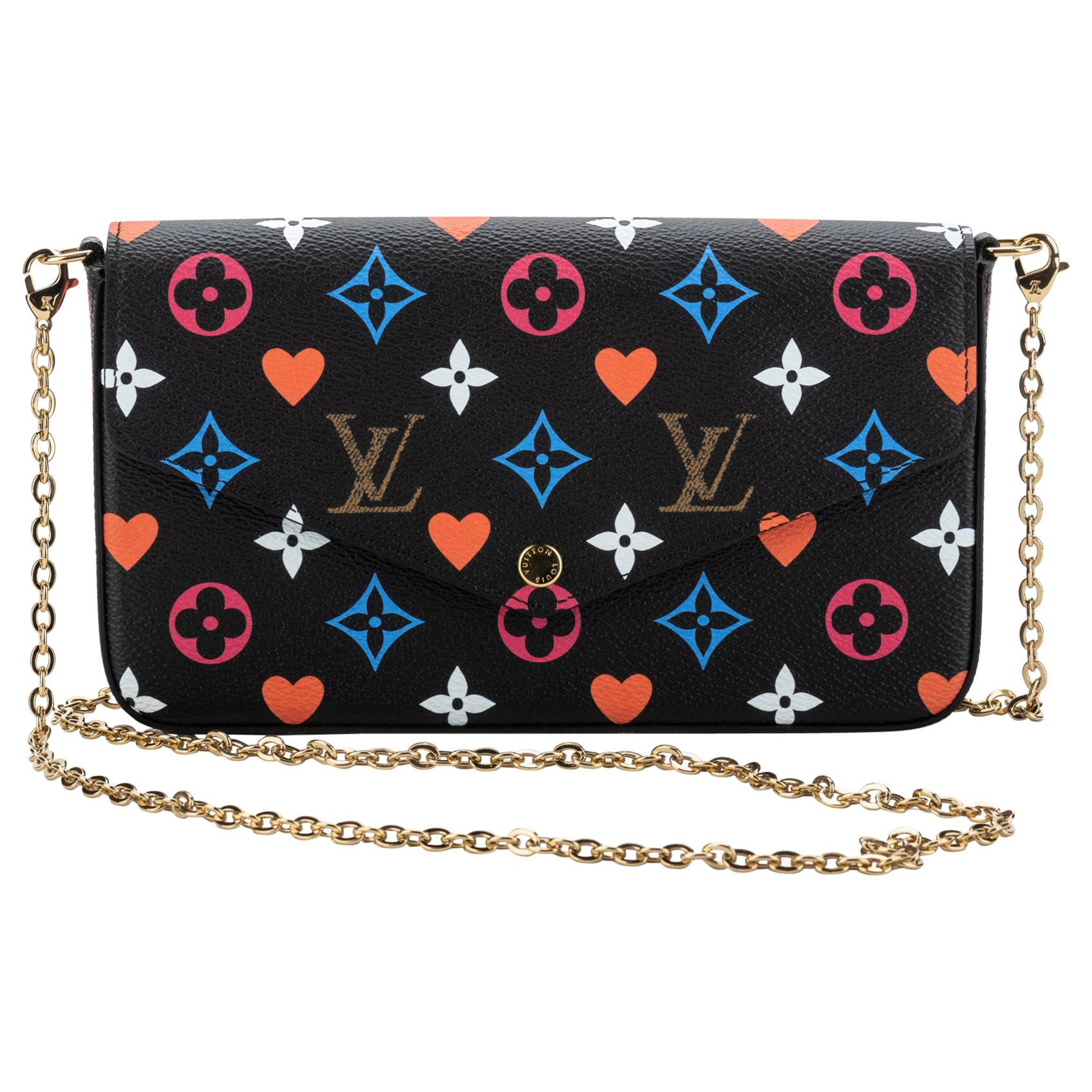 New Louis Vuitton Cards Limited Edition Black Felicie Bag