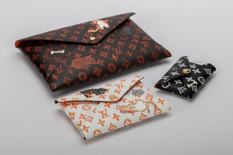 New Louis Vuitton Grace Coddington Cats Pouchettes Bags For Sale 12