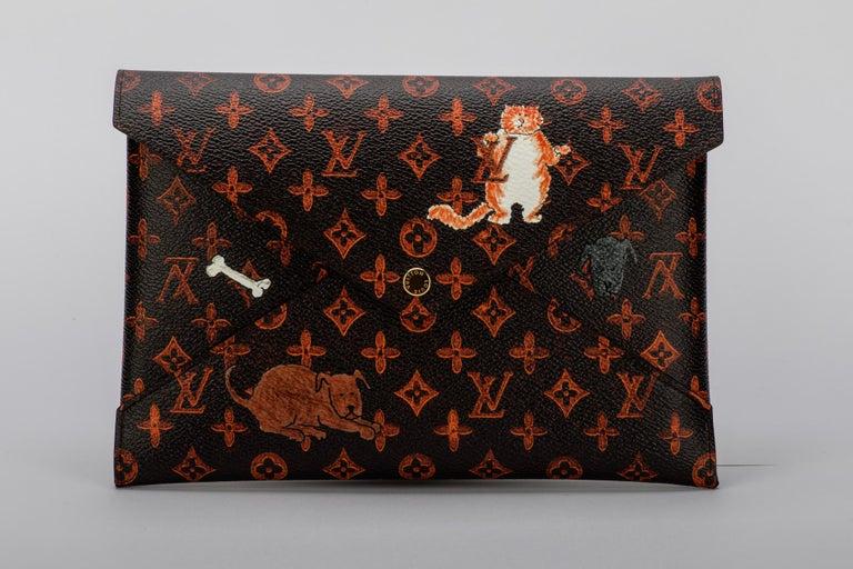 Black New Louis Vuitton Grace Coddington Cats Pouchettes Bags For Sale