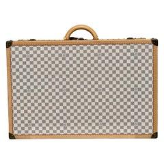 New Louis Vuitton Limited Edition Alzer Damier Azur Rare Travel Trunk 75cm