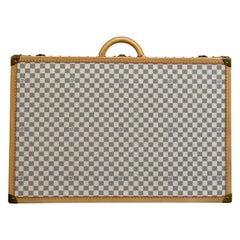 New Louis Vuitton Limited Edition Alzer Damier Azur Rare Travel Trunk 80cm