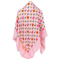 New Louis Vuitton Limited Edition Bubble Pink Shawl