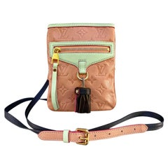 New Louis Vuitton Limited Edition Leather Underground Flat Crossbody Bag