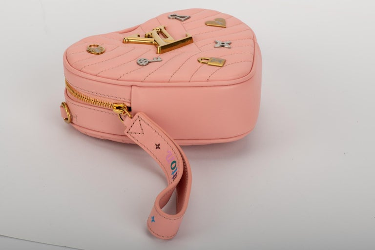 Women's or Men's New Louis Vuitton Limited Edition Red Heart Clutch Belt Bag For Sale