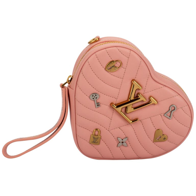 New Louis Vuitton Limited Edition Red Heart Clutch Belt Bag For Sale