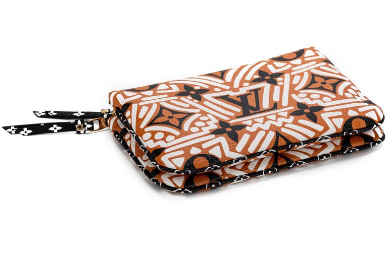 New Louis Vuitton Limited Edition Tribal Double Pochette Bag For Sale 5