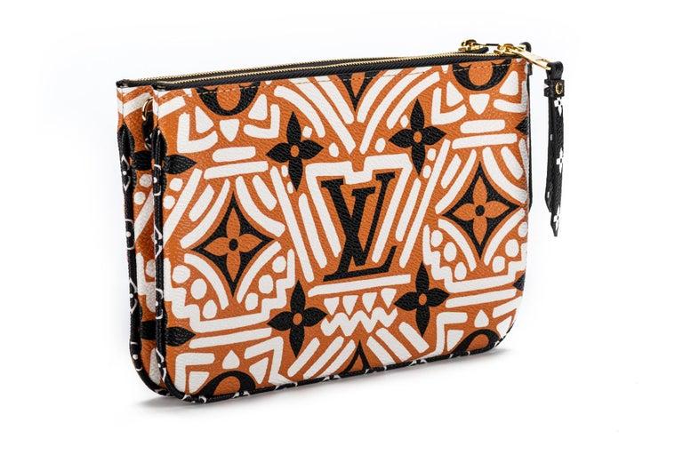 Women's New Louis Vuitton Limited Edition Tribal Double Pochette Bag For Sale