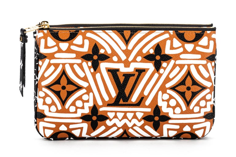 New Louis Vuitton Limited Edition Tribal Double Pochette Bag For Sale 2