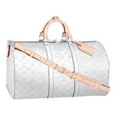 NEW Louis Vuitton Monogram Mirror Canvas LV Logo Keepall 50 Weekender Duffle Bag