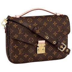 NEW Louis Vuitton Pochette 2021 Metis Monogram Canvas Hand Bag with Strap