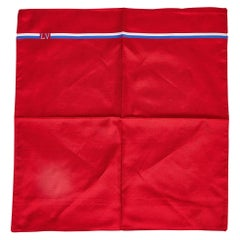New Louis Vuitton Red Blue Cotton Pocket Square Scarf