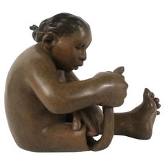 New Mexico Native American Bronze Sculpture by Roxanne Swentzell