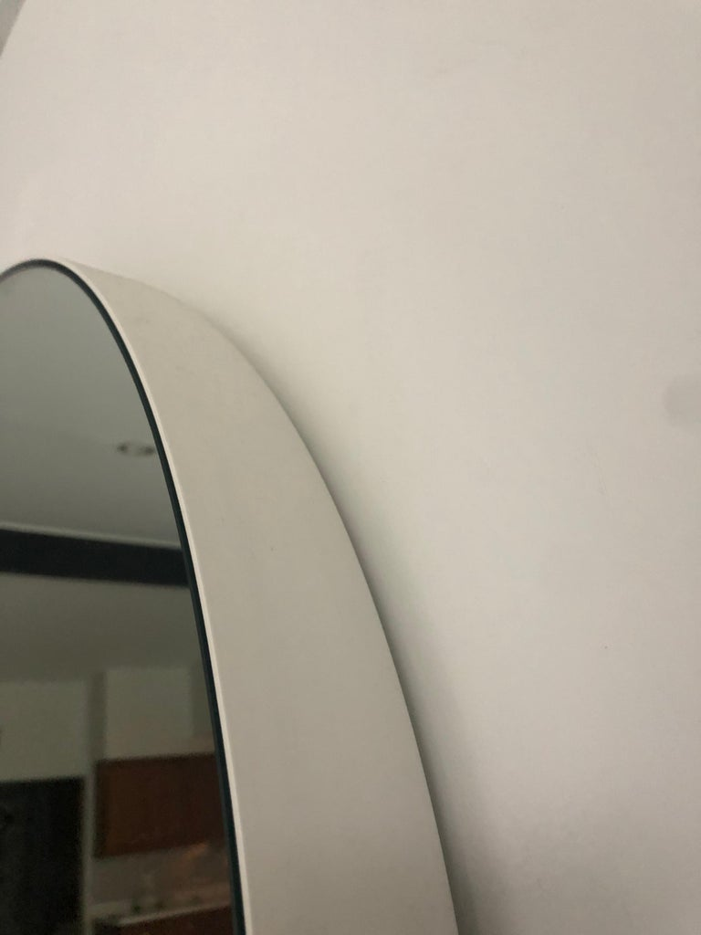 Powder-Coated New Mirror by Jonathan Nesci in Spun and Coated Aluminum and Mirrored Glass For Sale