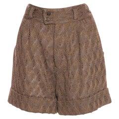NEW Missoni 3D Crochet Knit Shorts Bermudas Pants