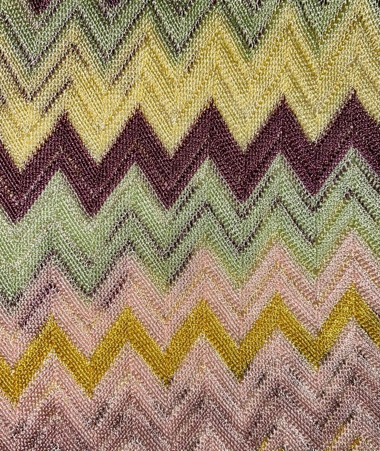 Beige NEW Missoni  Crochet Knit Playsuit Romper Mini Jumpsuit Overall For Sale