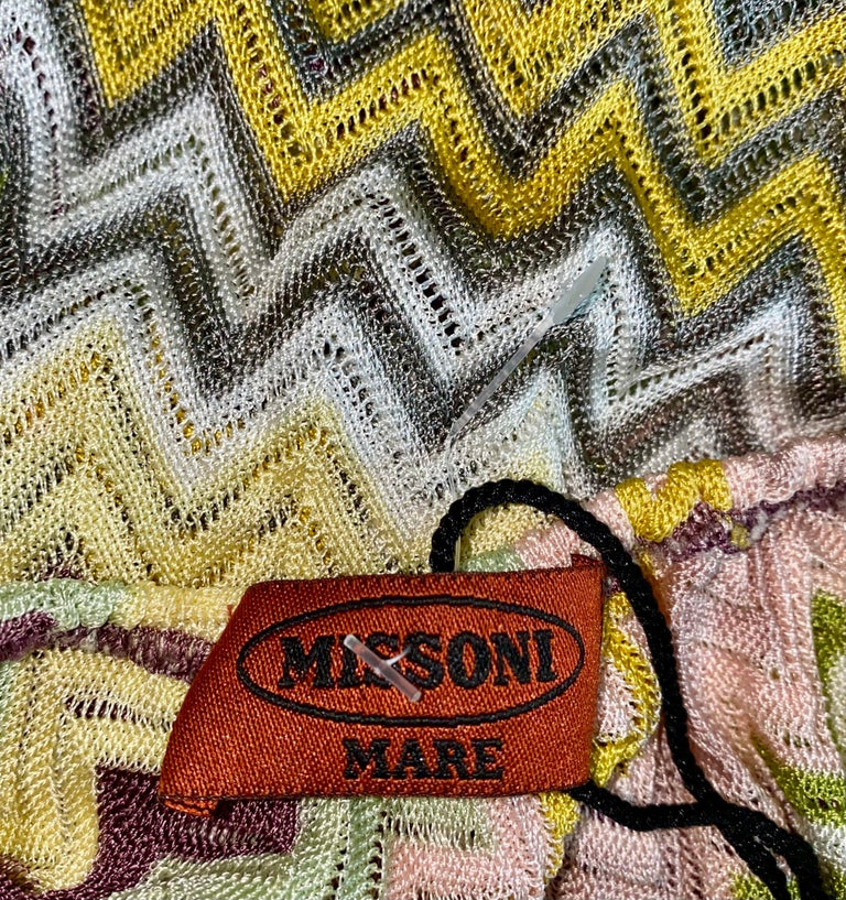 Women's NEW Missoni  Crochet Knit Playsuit Romper Mini Jumpsuit Overall For Sale