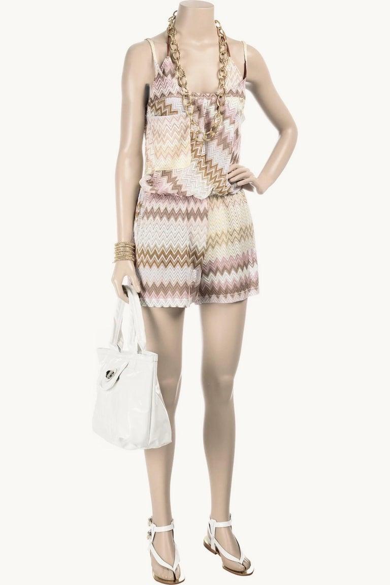 NEW Missoni  Crochet Knit Playsuit Romper Mini Jumpsuit Overall For Sale 2