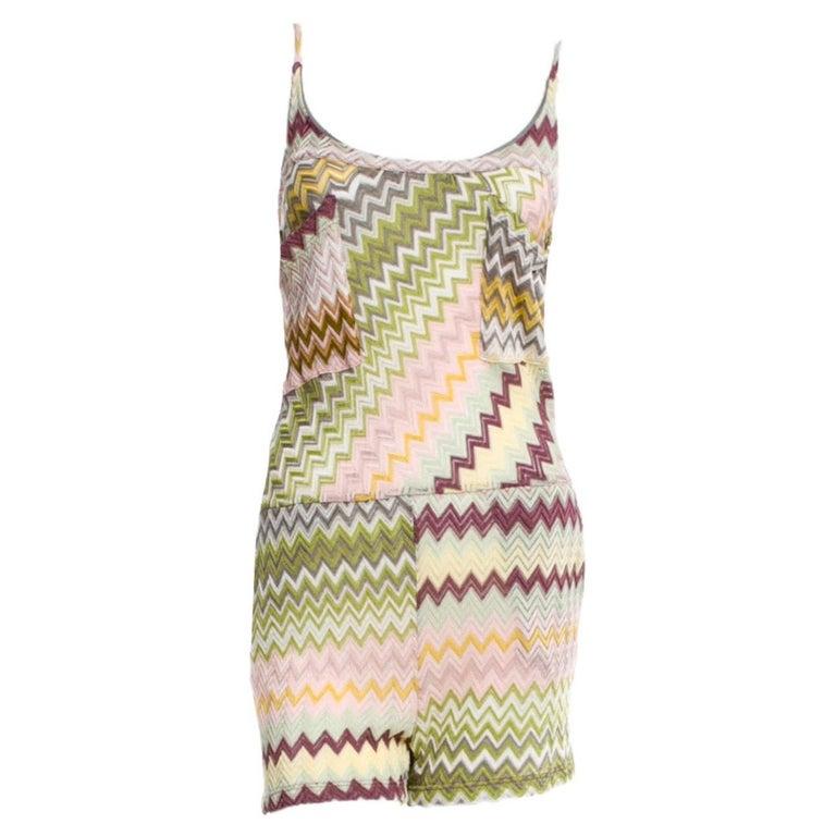 NEW Missoni  Crochet Knit Playsuit Romper Mini Jumpsuit Overall For Sale