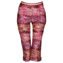 NEW Missoni Cropped Zigzag Knit Cropped Capri Pants Trousers