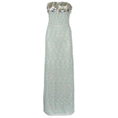 NEW Missoni Embellished Metallic Crochet Knit Corset Maxi Dress Evening Gown