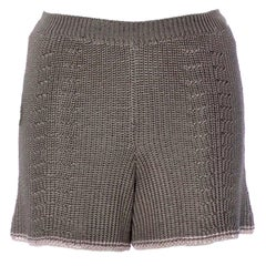 NEW Missoni Grey Silk Crochet Knit Hot Pants Shorts