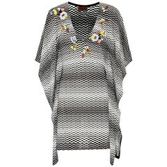 NEW Missoni Hand-Embroidered Chevron Crochet Knit Dress Kaftan Tunic Cover Up