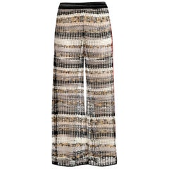 NEW Missoni Mesh Wide Leg LoungeCrochet Knit Palazzo Pants as seen on Gigi Hadid