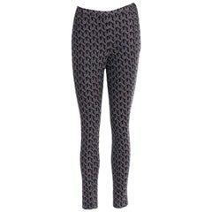 NEW Missoni Metallic Crochet Knit Leggings Slim Fit Pants Trousers