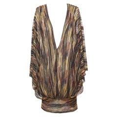 NEW Missoni Metallic Signature Knit Dress Tunic Kaftan Cover Up