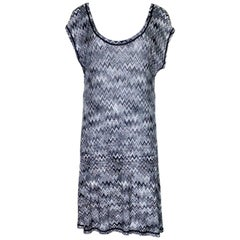 NEW Missoni Monochrome Signature Chevron Zigzag Knit Dress