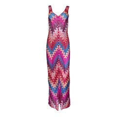 NEW Missoni Multicolor Semi Sheer Fitted Maxi Dress Gown