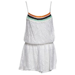 NEW Missoni Ruched Crochet Knit Playsuit Romper Mini Jumpsuit Overall