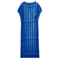 NEW Missoni Semi-Sheer Signature Chevron Crochet Knit Kaftan Maxi Dress
