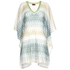 NEW Missoni Signature Chevron Crochet Knit Kaftan Tunic Cover Up Dress